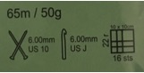 Green yarn label