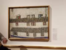 Egon Shiele's beautiful painting, 'Hauswand' from the Albertina Museum in Vienna