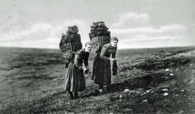 peat carrying knitters